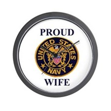 USN WIFE Wall Clock