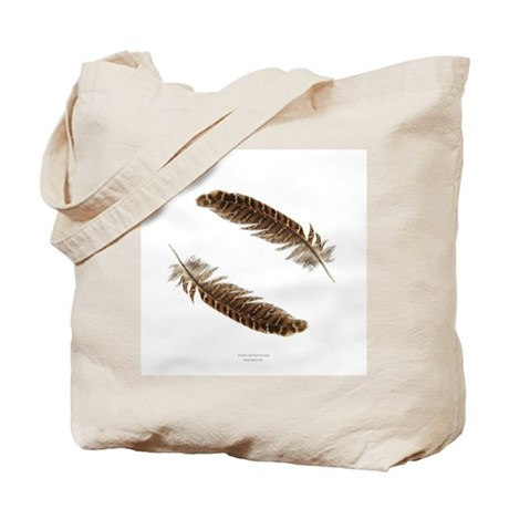 Pheasant Feather Tote Bag