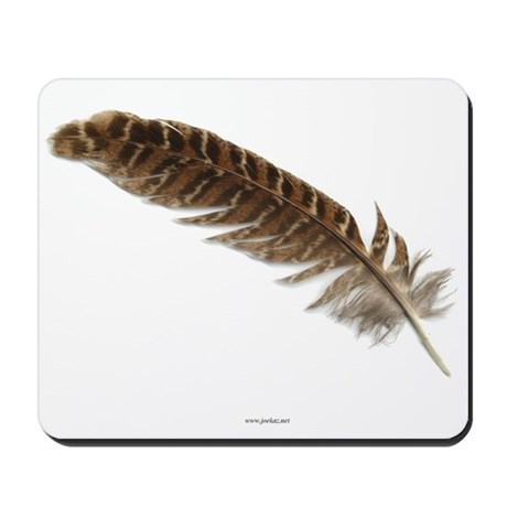 Pheasant Feather Mousepad 1