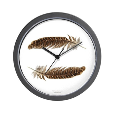 Pheasant Feather Wall Clock 1
