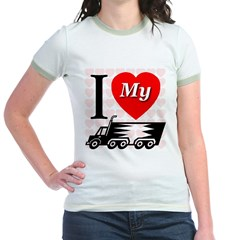 I Love My Truck First Edition Jr. Ringer T-Shirt