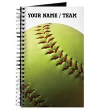 Yellow Softball Journal