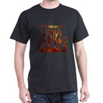 Firefighter Tribal Flames Dark T-Shirt