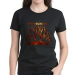 Firefighter Tribal Flames Women's Dark T-Shirt