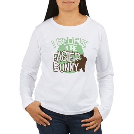 Belive Easter Bunny Women's Long Sleeve T-Shirt