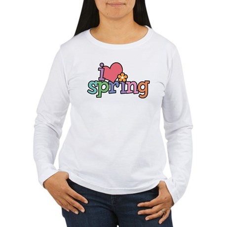 I Love Spring Women's Long Sleeve T-Shirt