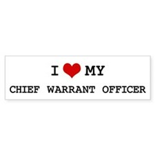 I Love My Chief Warrant Offic Bumper Bumper Sticker