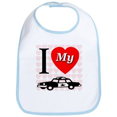 I Love My Police Car Bib