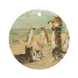 Beach Kittens Ornament (Round)