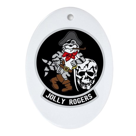 Vf-103 Jolly Rogers Oval Ornament