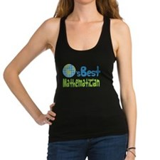 Earths Best Mathematician Racerback Tank Top