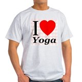 I Love Yoga Ash Grey T-Shirt