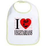 I Love Vegetarians Bib