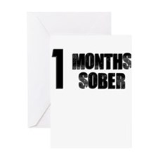 1 Months Sober Greeting Card