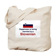 Happily Married To Slovenian Tote Bag