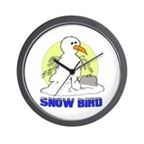 Snowbird Vacation Cartoon Wall Clock