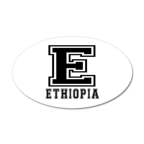 Ethiopia Designs 20x12 Oval Wall Decal