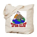 On Top of the World Cartoon Tote Bag