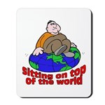 On Top of the World Cartoon Mousepad