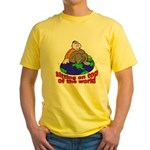 On Top of the World Cartoon (Front) Yellow T-Shirt