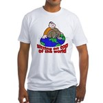 On Top of the World Cartoon (Front) Fitted T-Shirt