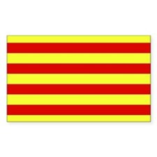 Catalunya Flag Rectangle Decal