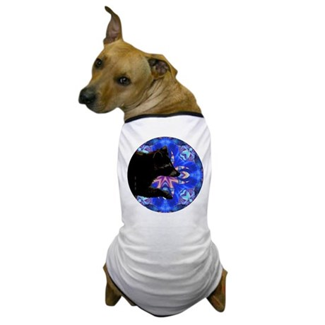 Racoon Kaleidoscope Dog T-Shirt