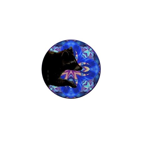 Racoon Kaleidoscope Mini Button (100 pack)