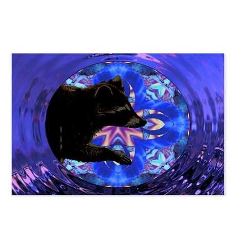 Racoon Kaleidoscope Postcards (Package of 8)