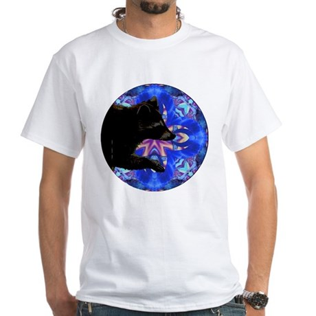 Racoon Kaleidoscope White T-Shirt