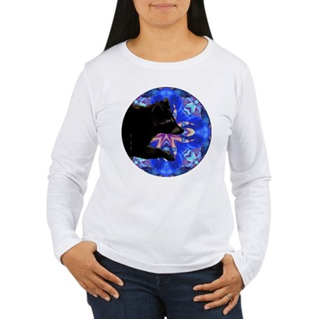 Racoon Kaleidoscope Women's Long Sleeve T-Shirt
