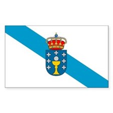 Galicia Flag Rectangle Decal