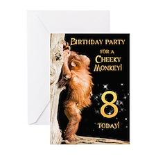 8th Birthday party invitation Greeting Cards (Pk o