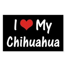 I Heart My Chihuahua Decal