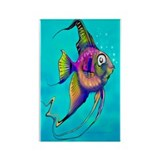 Tropical angelfish Rectangle Magnet (10 pack)