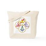 Circles of the York Rite Masons Tote Bag