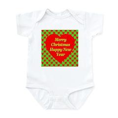 Merry Christmas Happy New Yea Infant Bodysuit