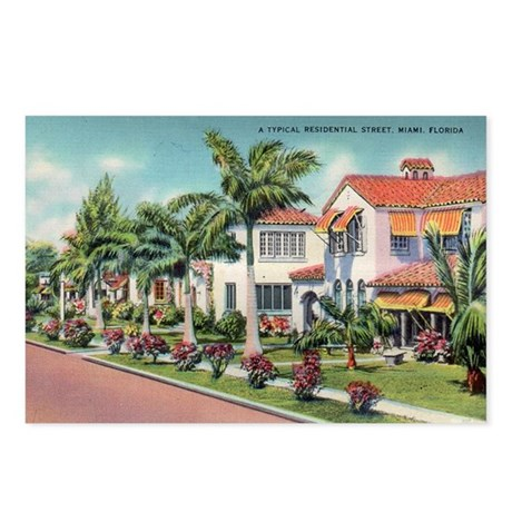 Picturesque Neighborhood Miami Florida Postcards