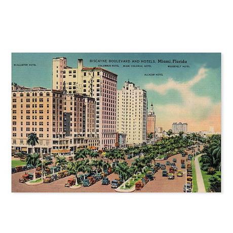 Miami Florida Hotels Postcards