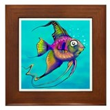 Cool Tropical angelfish Framed Tile