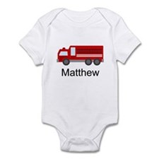 Personalized Fire Truck Onesie