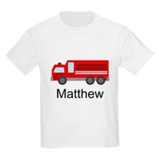 Personalized Fire Truck T-Shirt