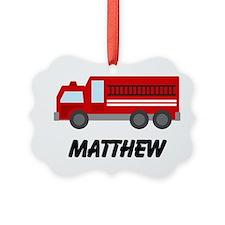Personalized Fire Truck Ornament