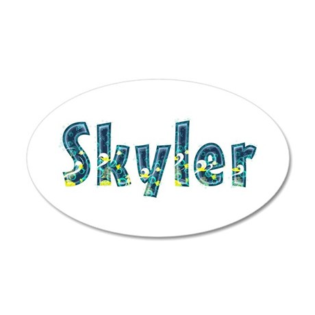 Skyler Under Sea 20x12 Oval Wall Decal