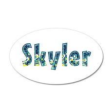 Boy Name Skyler Wall Decals | Boy Name Skyler Wall ...