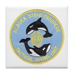 Alaska Police Dive Unit Tile Coaster
