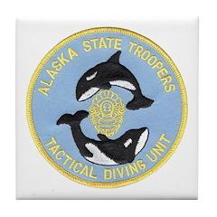 Alaska Police Dive Unit Tile Coaster