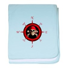 Pirate Compass Rose baby blanket