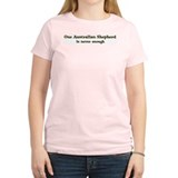 One Australian Shepherd Women's Pink T-Shirt