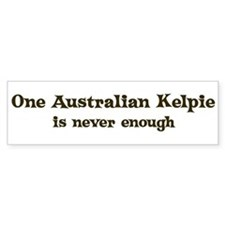 One Australian Kelpie Bumper Stickers